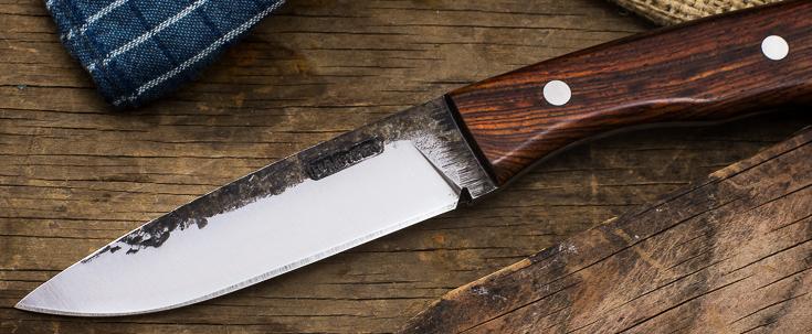 Lon Humphrey Custom Knives - Sterling - Cocobolo