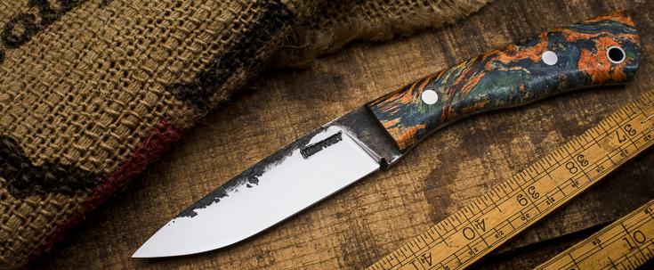 Lon Humphrey Custom Knives - Sterling - Burl