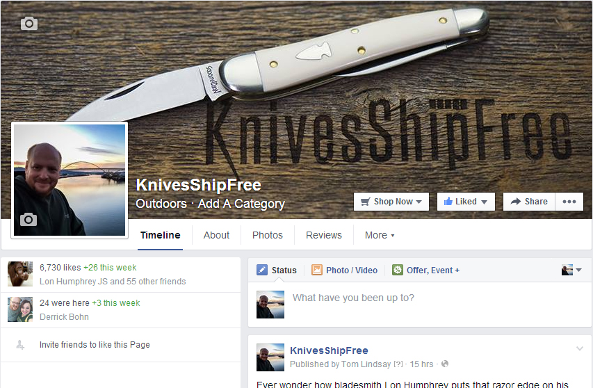 KnivesShipFree Facebook